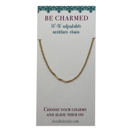 """oval link chain gold 16"""" - 18"""""""