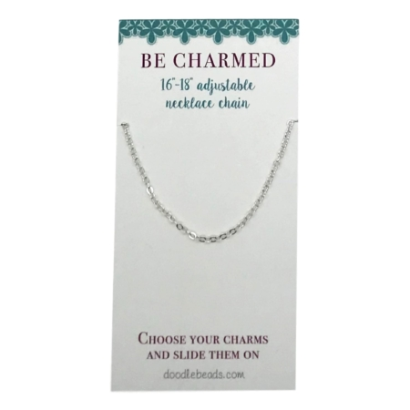 """Oval link chain silver 16"""" - 18"""""""